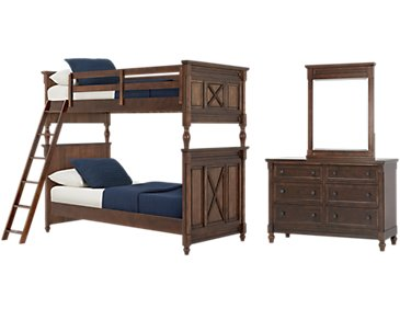 Big Sur Dark Tone Bunk Bed Bedroom