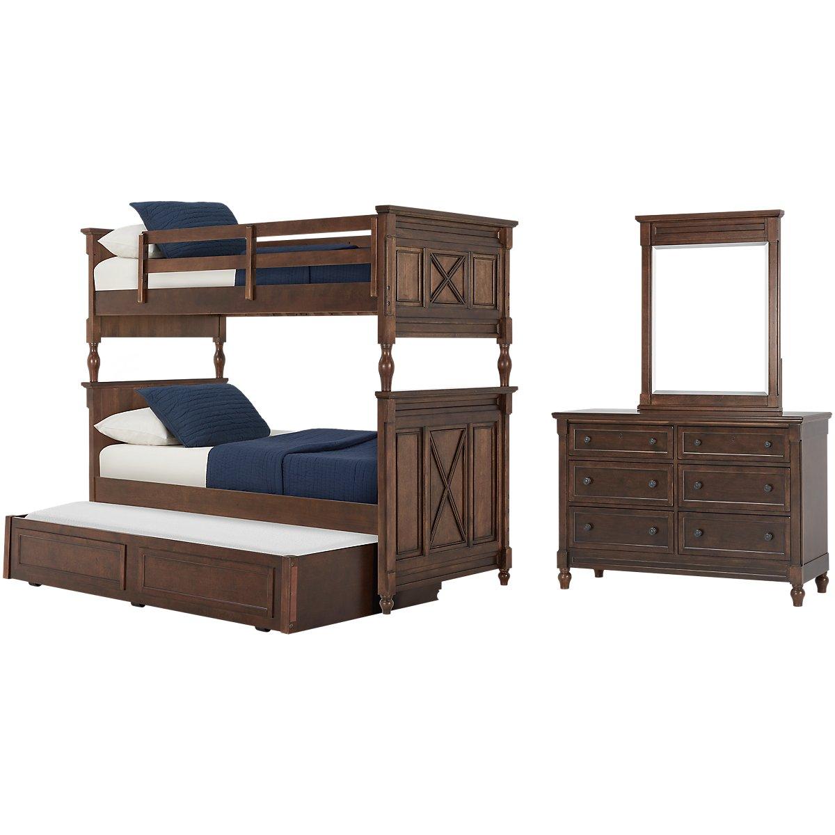 Big Sur Dark Tone Bunk Bed Trundle Bedroom