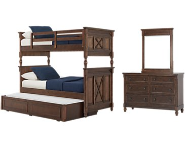 Big Sur Dark Tone Bunk Bed Trundle Bedroom