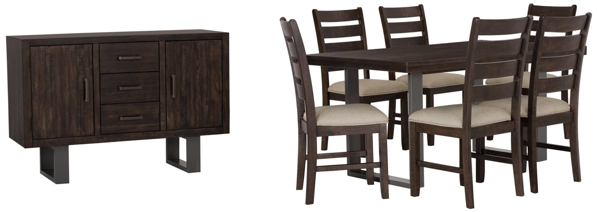 Sawyer Dark Tone Wood Dining Room