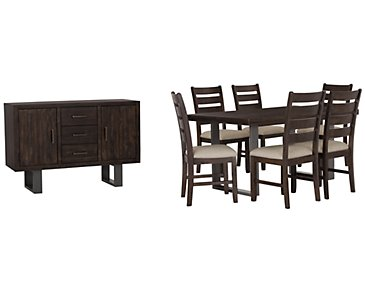 Sawyer Dark Tone Rectangular Dining Room