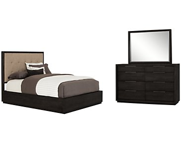 Madden Dark Tone Wood Platform Bedroom