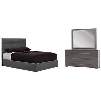 Dimora Gray Metal Platform Bedroom