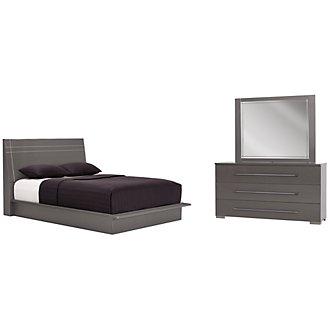 Dimora Gray Wood Platform Bedroom