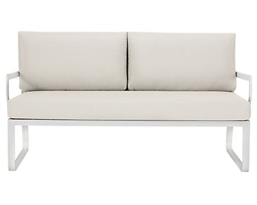 Ibiza White Loveseat