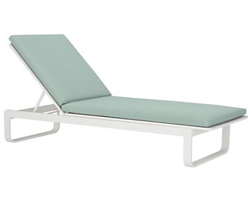 Ibiza Teal Cushioned Chaise