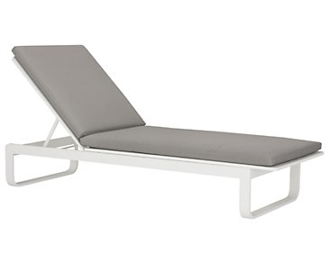 Ibiza Gray Cushioned Chaise
