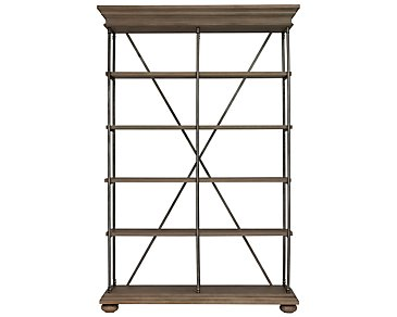 Haddie Light Tone Bookcase