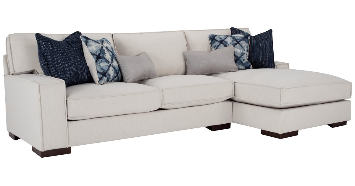City furniture kendleton lt taupe microfiber right chaise sectional - Chaises couleur taupe ...