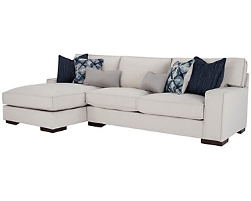 Kendleton Light Taupe Microfiber Left Chaise Sectional
