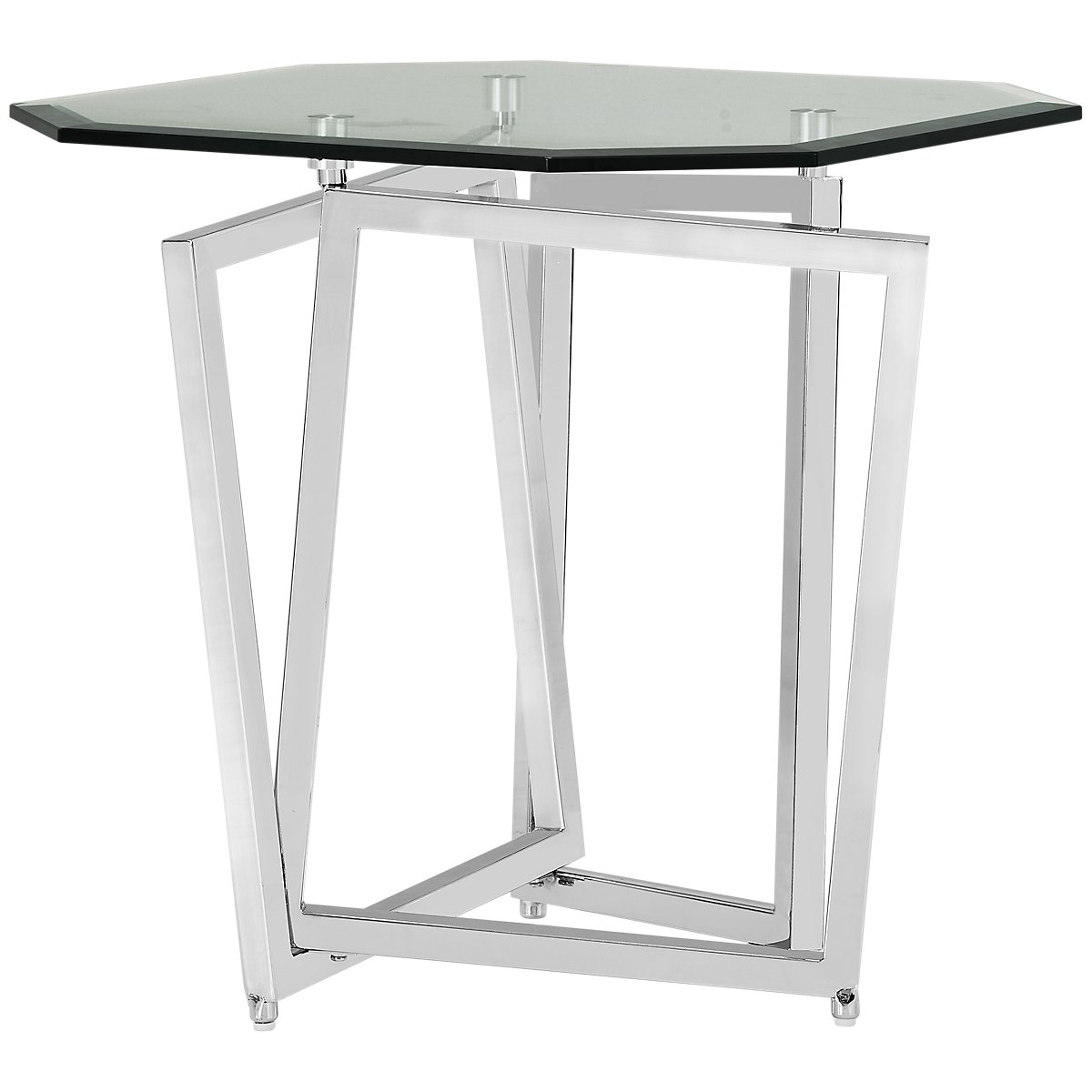 City Furniture Royce Glass End Table