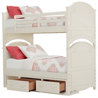Charlotte Ivory Storage Bunk Bed