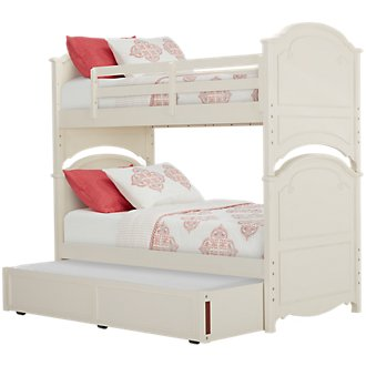 Charlotte Ivory Trundle Bunk Bed
