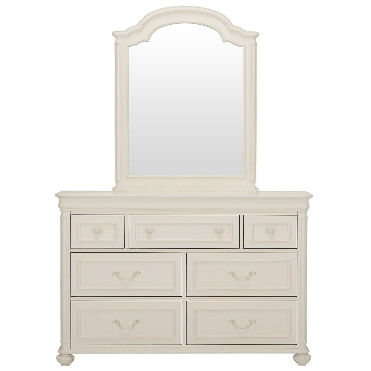 Charlotte Ivory Dresser & Mirror