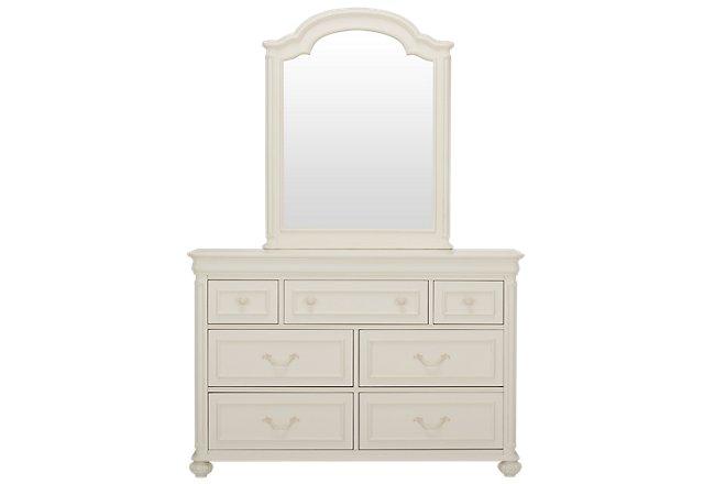 Charlotte Ivory Wood Dresser & Mirror