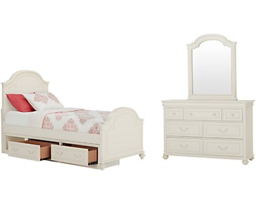 Charlotte Ivory Panel Storage Bedroom