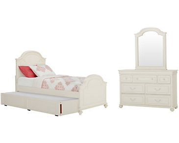 Charlotte Ivory Panel Trundle Bedroom