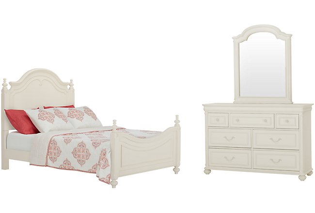 Charlotte Ivory Wood Poster Bedroom