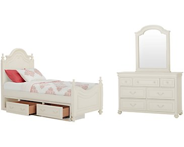 Charlotte Ivory Poster Storage Bedroom