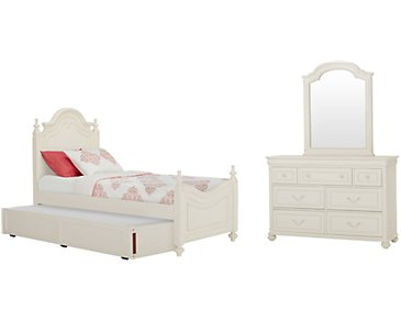 Charlotte Ivory Poster Trundle Bedroom