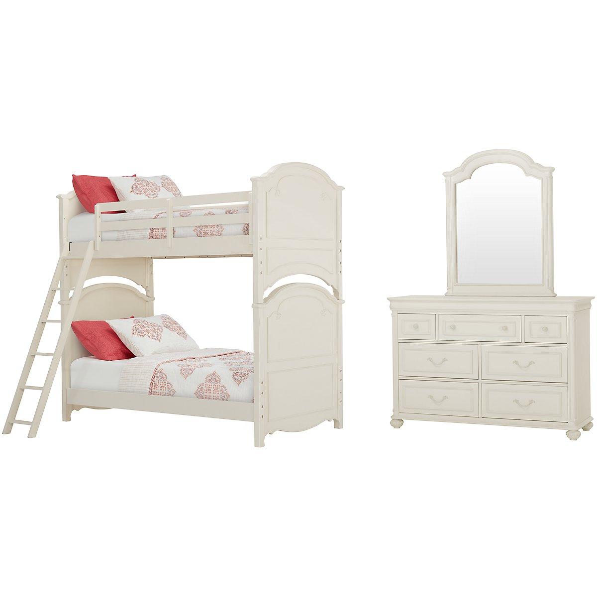 Charlotte Ivory Bunk Bed Bedroom