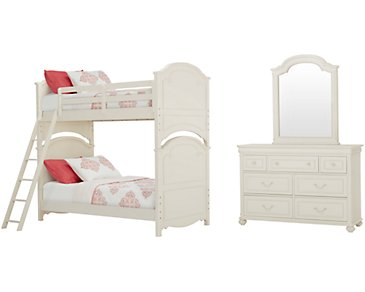 Charlotte Ivory Bunk Bed Bedroom