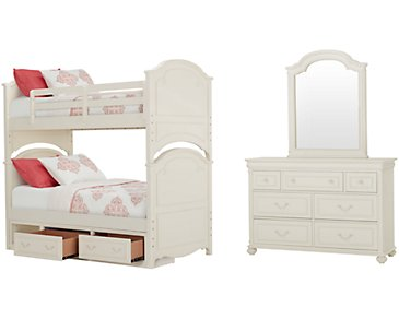 Charlotte Ivory Bunk Bed Storage Bedroom