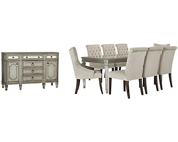 Sloane Light Beige Rectangular Dining Room