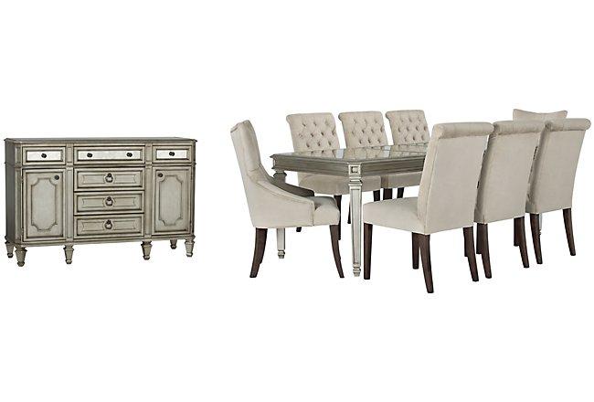 Sloane Light Beige Upholstered Dining Room