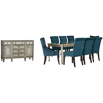Sloane Dark Blue Rectangular Dining Room