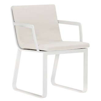 Ibiza White Arm Chair