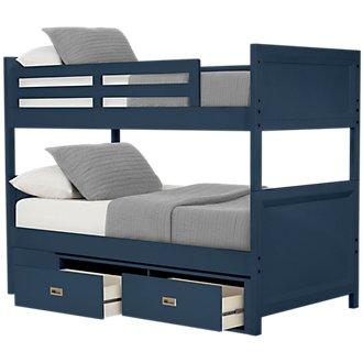 Ryder Dark Blue Storage Bunk Bed
