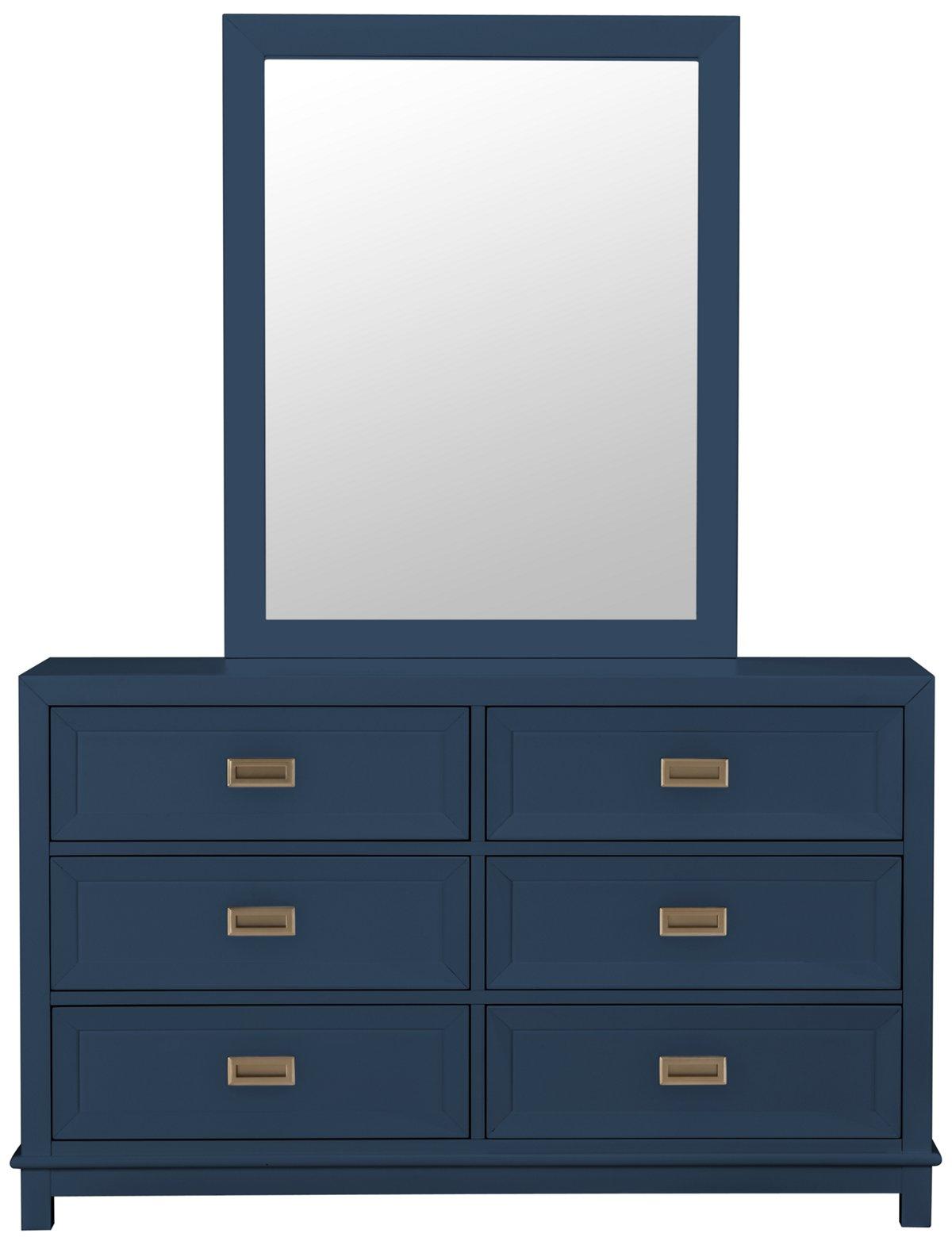 City Furniture Ryder Dk Blue Dresser Amp Mirror