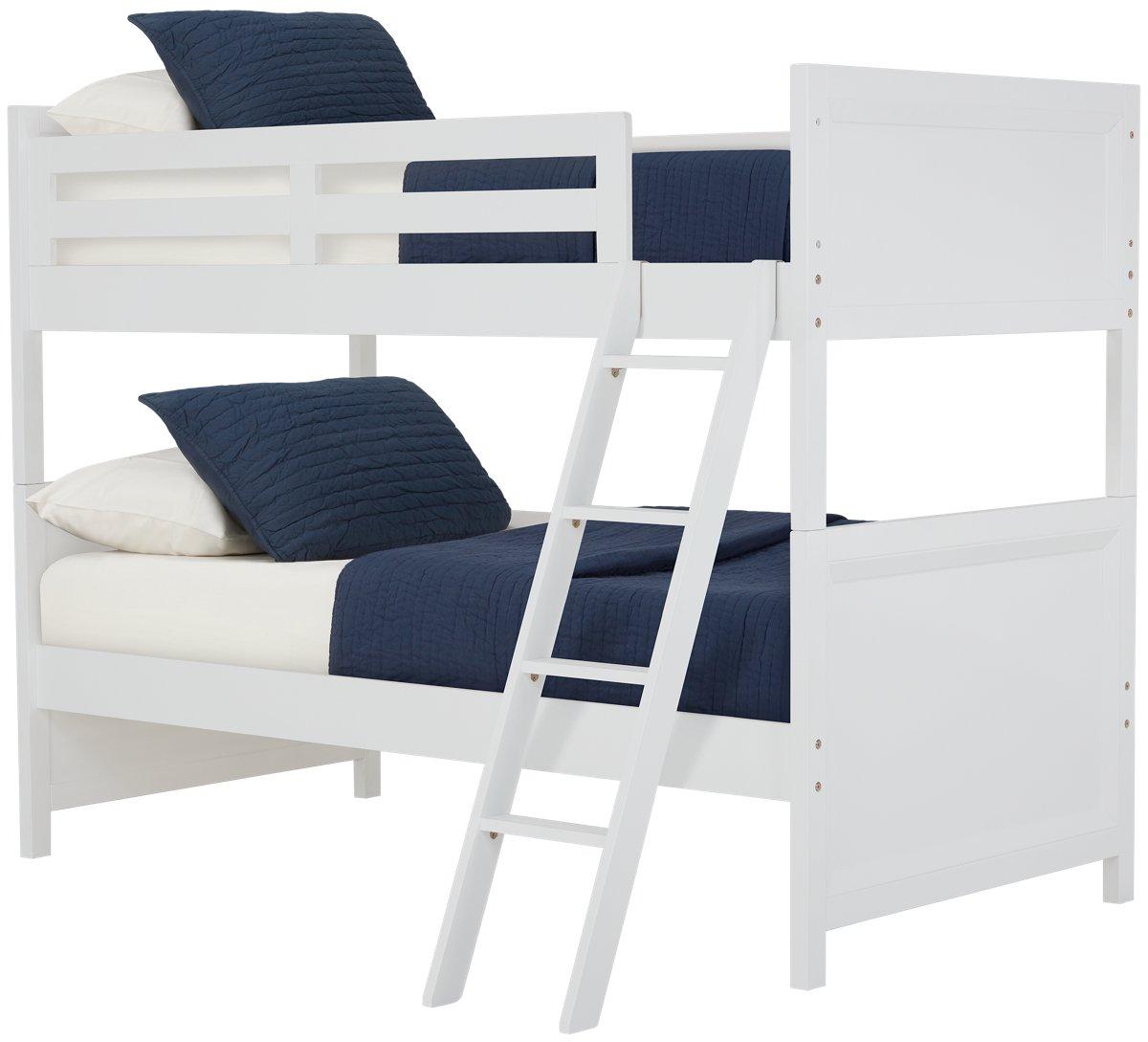 Ryder White Wood Bunk Bed