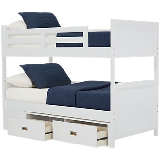 Ryder White Storage Bunk Bed
