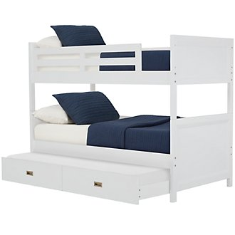Ryder White Trundle Bunk Bed