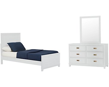 Ryder White Panel Bedroom