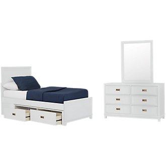Ryder White Panel Storage Bedroom