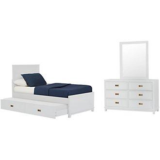 Ryder White Panel Trundle Bedroom