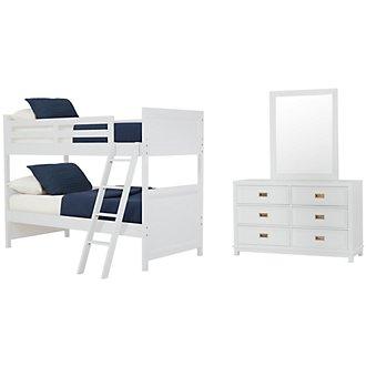 Ryder White Bunk Bed Bedroom