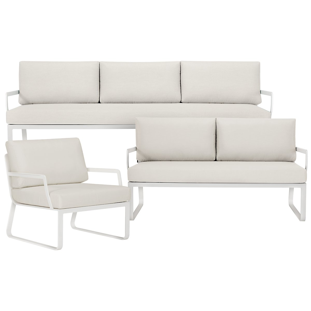 City Furniture: Ibiza White Outdoor Living Room Set