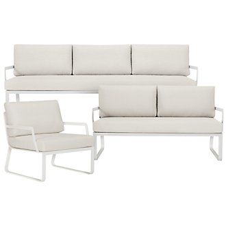 Ibiza White Outdoor Living Room Set
