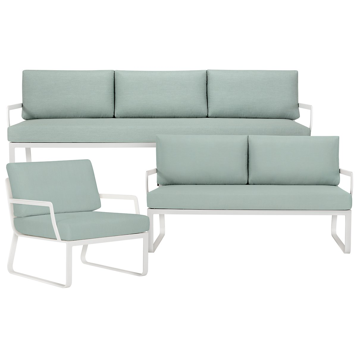 City Furniture Ibiza Teal Loveseat