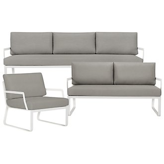 Ibiza Gray Outdoor Living Room Set