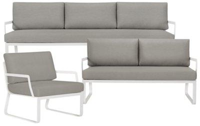 Ibiza Gray Outdoor Living Room Set