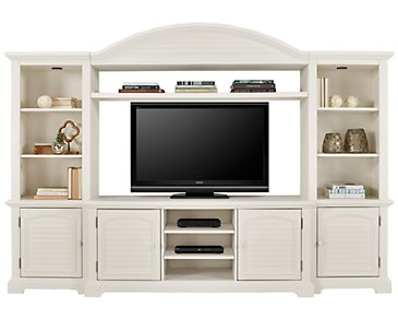 Quinn White Entertainment Wall