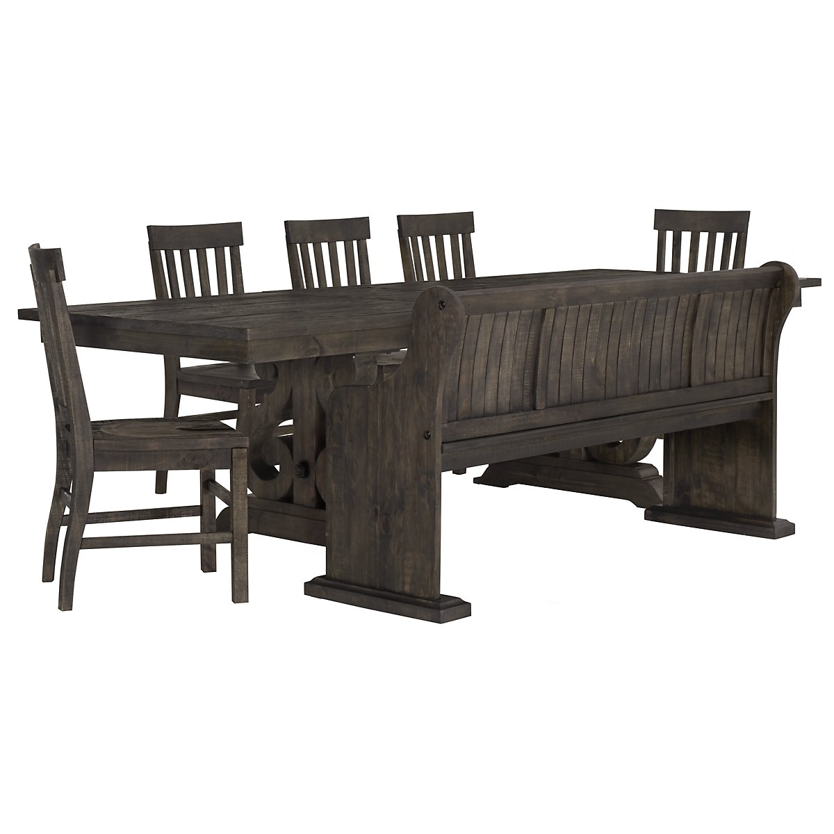 Sonoma Dark Tone Table 4 Chairs Bench