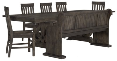 Sonoma Dark Tone Table, 4 Chairs U0026 Bench