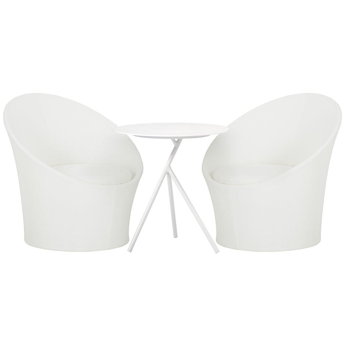 Ibiza White Curved Balcony Set