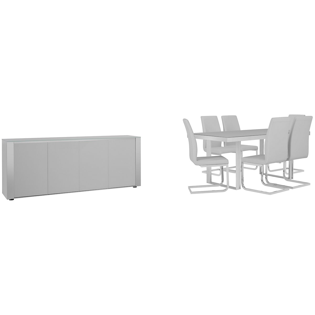 Harley Gray Glass Rect Dining Room